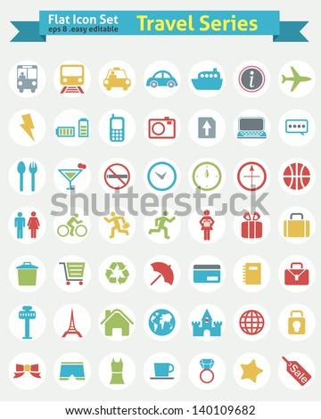 flat icon    travel series