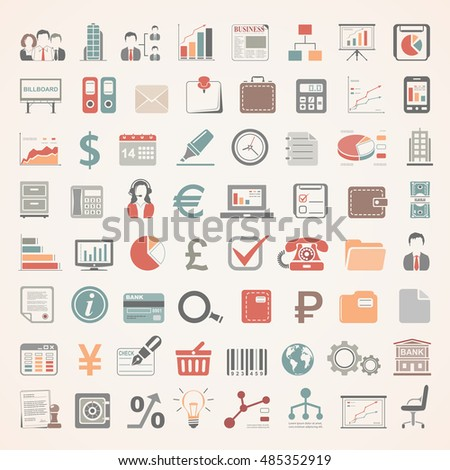 Flat Icons - Business and Finance