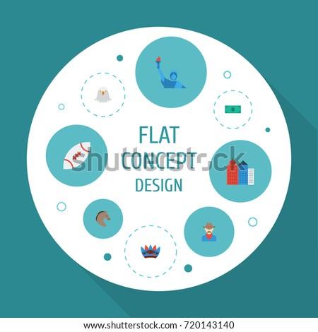 flat icons indian mascot