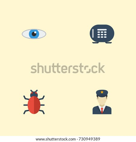 flat icons safe  virus