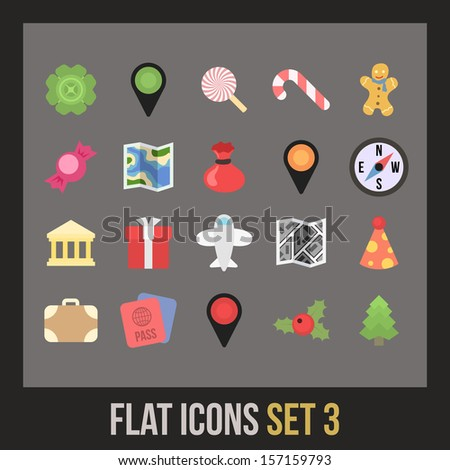 Flat icons set 3 - holiday collection
