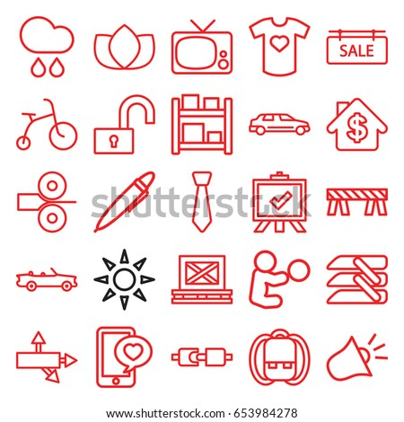 flat icons set set of 25 flat