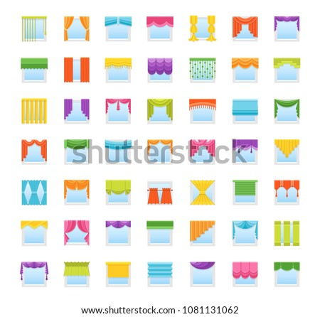 3ec78329d ... Stock-vector-flat-icons-with-drapes-window-covering- ...