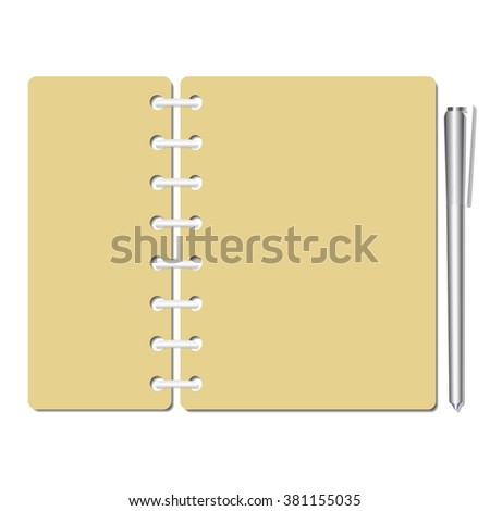 Flat Identity Blank Notebook Sheets/Pages,Checklist/Memo/Test/Exam