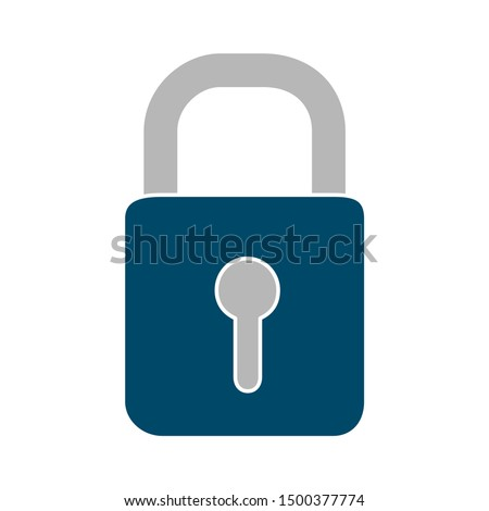 flat illustration of padlock vector icon, security sign symbol