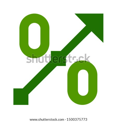 flat illustration of percentage vector icon, investment sign symbol