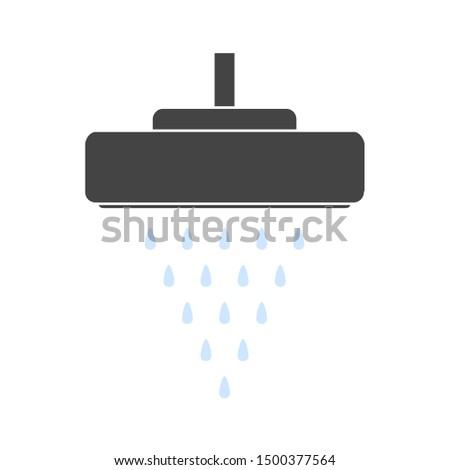 flat illustration of shower head vector icon. bathroom sign symbol