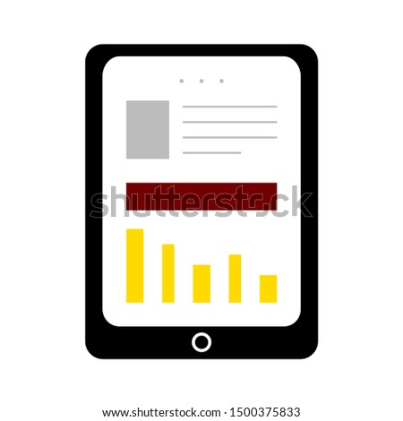 flat illustration of tablet vector icon, device sign symbol