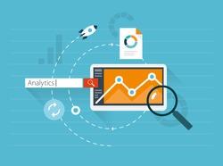 Flat illustration web analytics