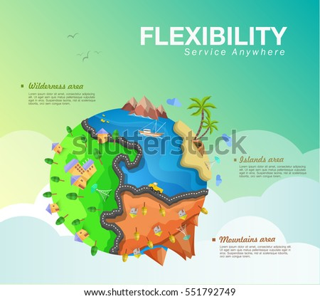 flat illustration  wireless