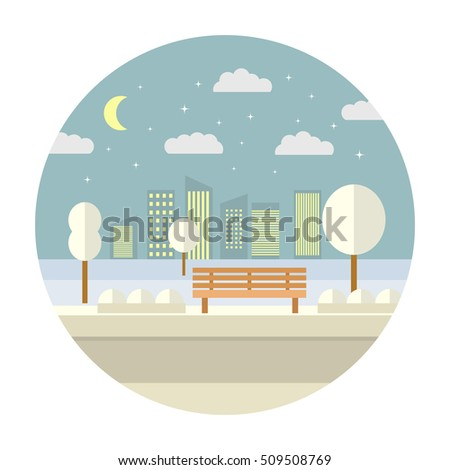 flat illustration with the
