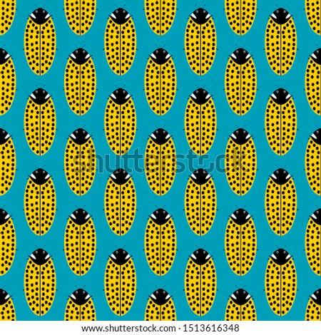 Flat illustrations. Flat vector illustration. Vector flat. Illustration flat. Illustration. Vector illustration. Ladybug yellow pattern. Ladybug pattern yellow. Pattern yellow ladybug