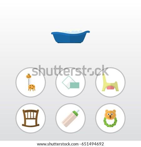 flat infant set of infant cot