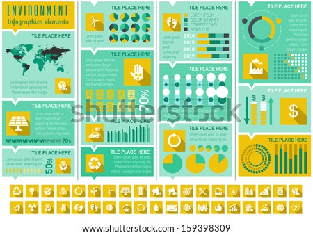 Flat Infographic Elements Opportunity to Highlight any Country on the World Map Vector Illustration EPS 10
