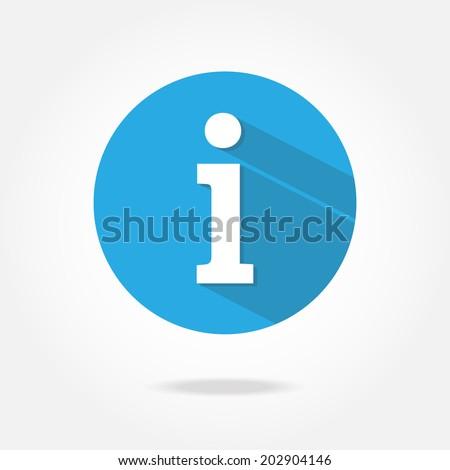 Flat information icon.