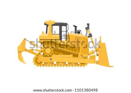 Flat isolated heavy mining dozer bulldozer