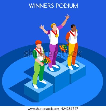 flat isometric male winner