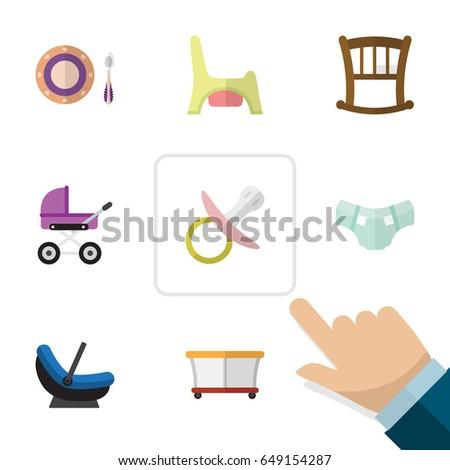 flat kid set of infant cot