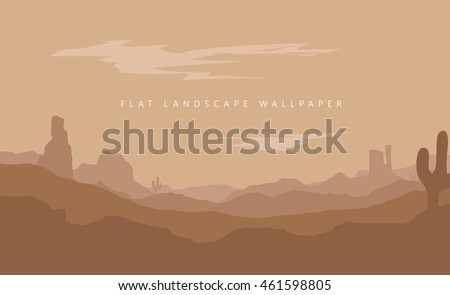 flat landscape mountain desert