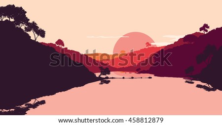 flat landscape of mountain
