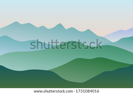 flat landscape with green