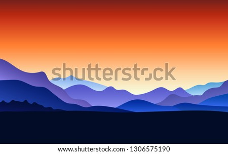 flat landscape with mountain