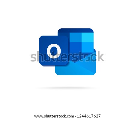 flat letter o in blue shape