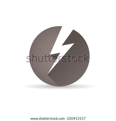 flat lightning bolt vector icon