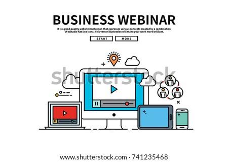 webinar element vector download free vector art stock graphics