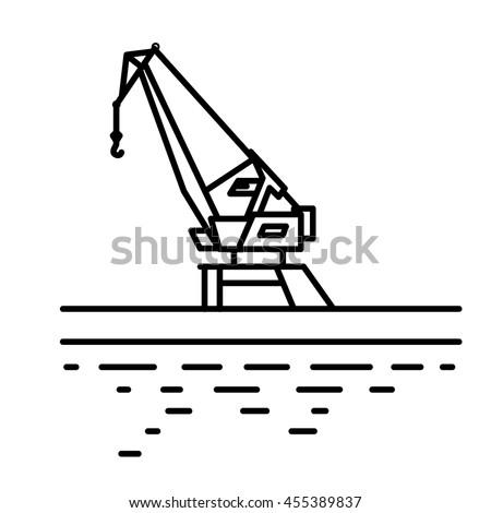 flat linear port crane...