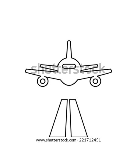 flat lines plane illustration