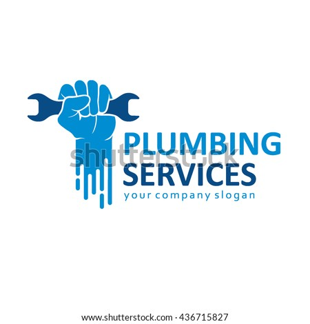 Flat logo design for plumbing company.