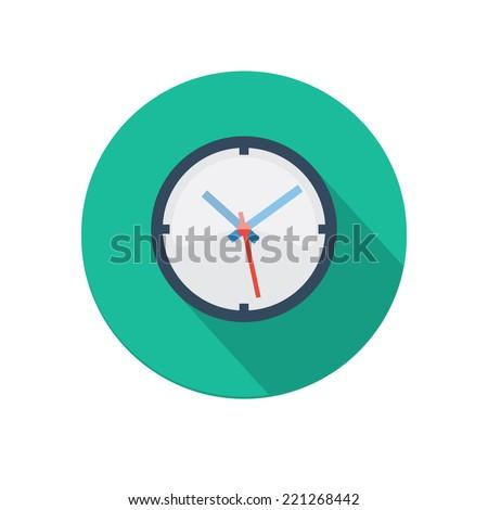 flat long shadow clock icon