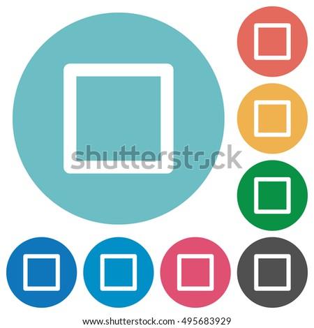 flat media stop icon set on