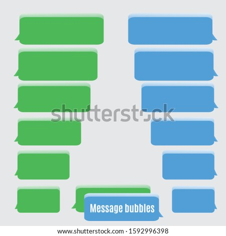 Flat Messages Bubbles isolated on a gray background. Chat interface. Vector illustration EPS 10.
