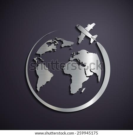 flat metallic logo of the