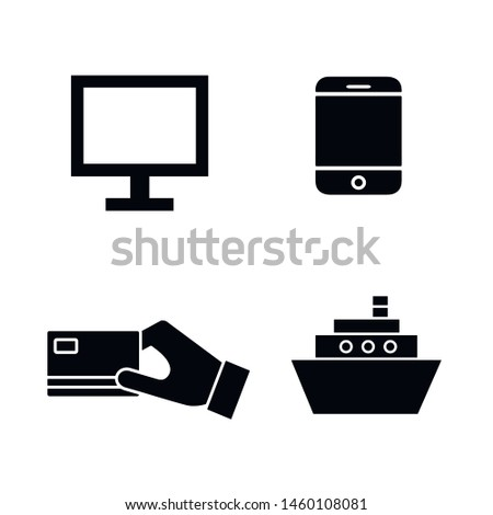 Flat minimal e-commerce icon set. Simple vector e-commerce icon set. Isolated e-commerce icon set for various projects.