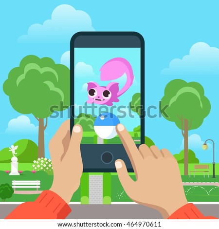 flat mobile game vector