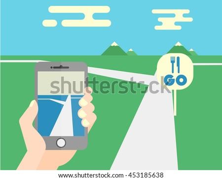 flat mobile phone vector