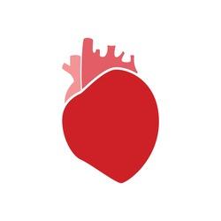 Flat modern design icon heart. Vectpr eps10.