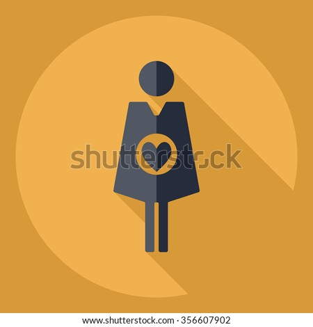 Flat modern design with shadow  Icon pregnant #356607902