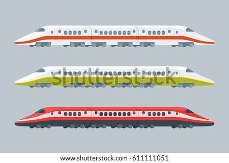 flat modern high speed trains