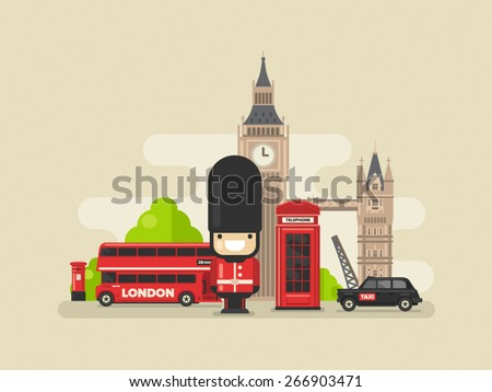 flat modern vector london  the