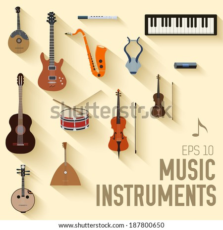 flat music instruments