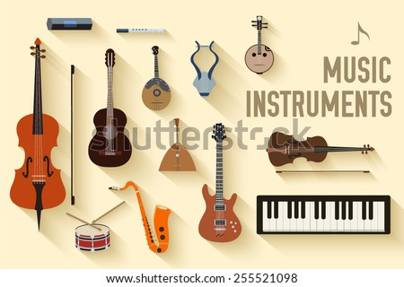Flat Music Instrument Vectors - Download Free Vector Art, Stock ...