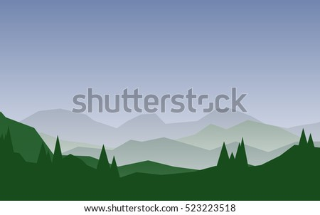 flat natural landscape with