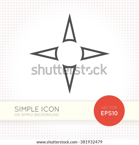 Flat nawigation arrows icon. Universal vector arrow eps. Navigation panel AI illustration element for user interface of website or application. Arrow object isolated on white background. Zdjęcia stock ©