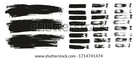 Flat Paint Brush Thin Lines & Background Mix High Detail Abstract Vector Lines Background Mix Set  stock photo