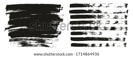 flat paint brush thin lines