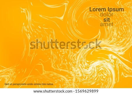 Flat particles of fluid dynamics for wallpaper design.  Holiday concept. Liquid wave modern background. Vector business illustration.